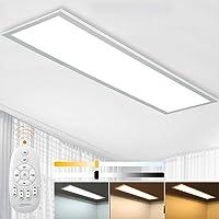 Aimosen Panel LED de Techo Regulable de 100 x 25 cm con Mando a Distancia, 28W Panel…
