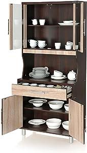 Royal Oak Milan Crockery Cabinet (Walnut)