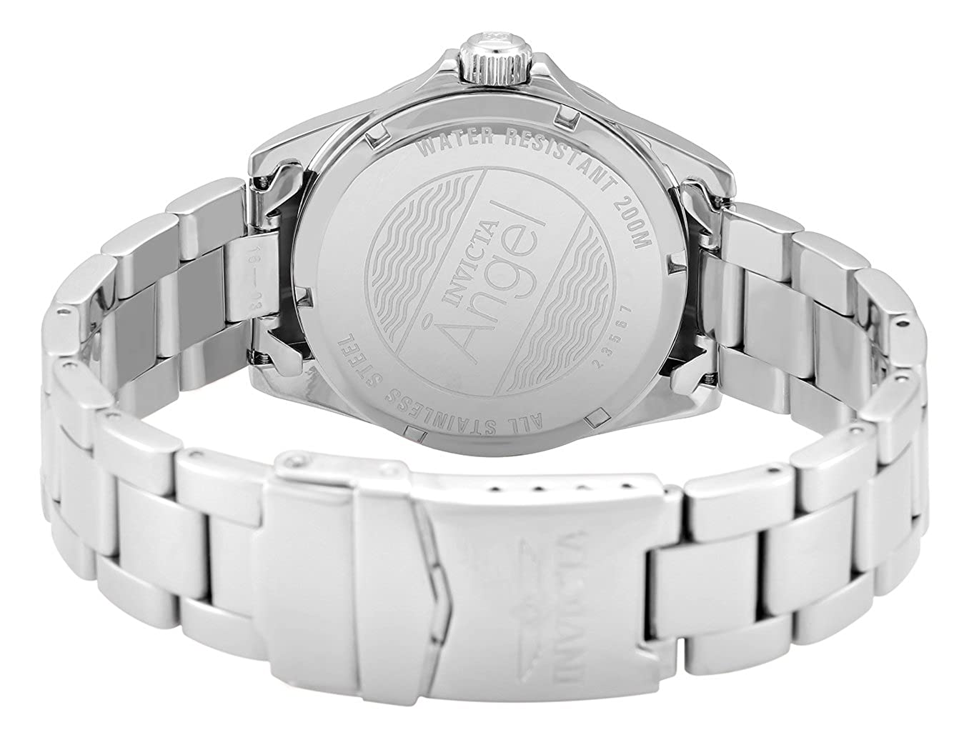 Amazon.com: Invicta Womens Angel Quartz Watch with Stainless-Steel Strap, Silver, 20 (Model: 23567: Invicta: Watches