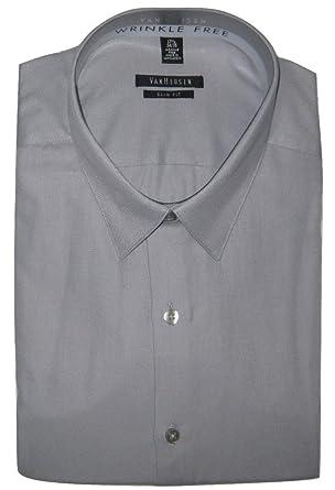 dcba846e Van Heusen Men's Slim-Fit Wrinkle Free Dress Shirt, Steel, 17.5 34 ...
