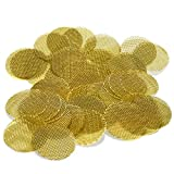 100 Brass Tobacco Pipe Bowl Screens - 3/4