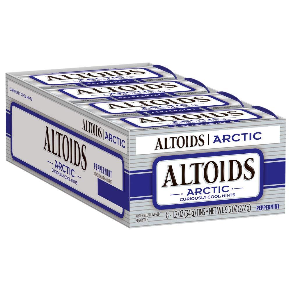 ALTOIDS Arctic Peppermint Mints, 1.2-Ounce Tin (Pack of 8)