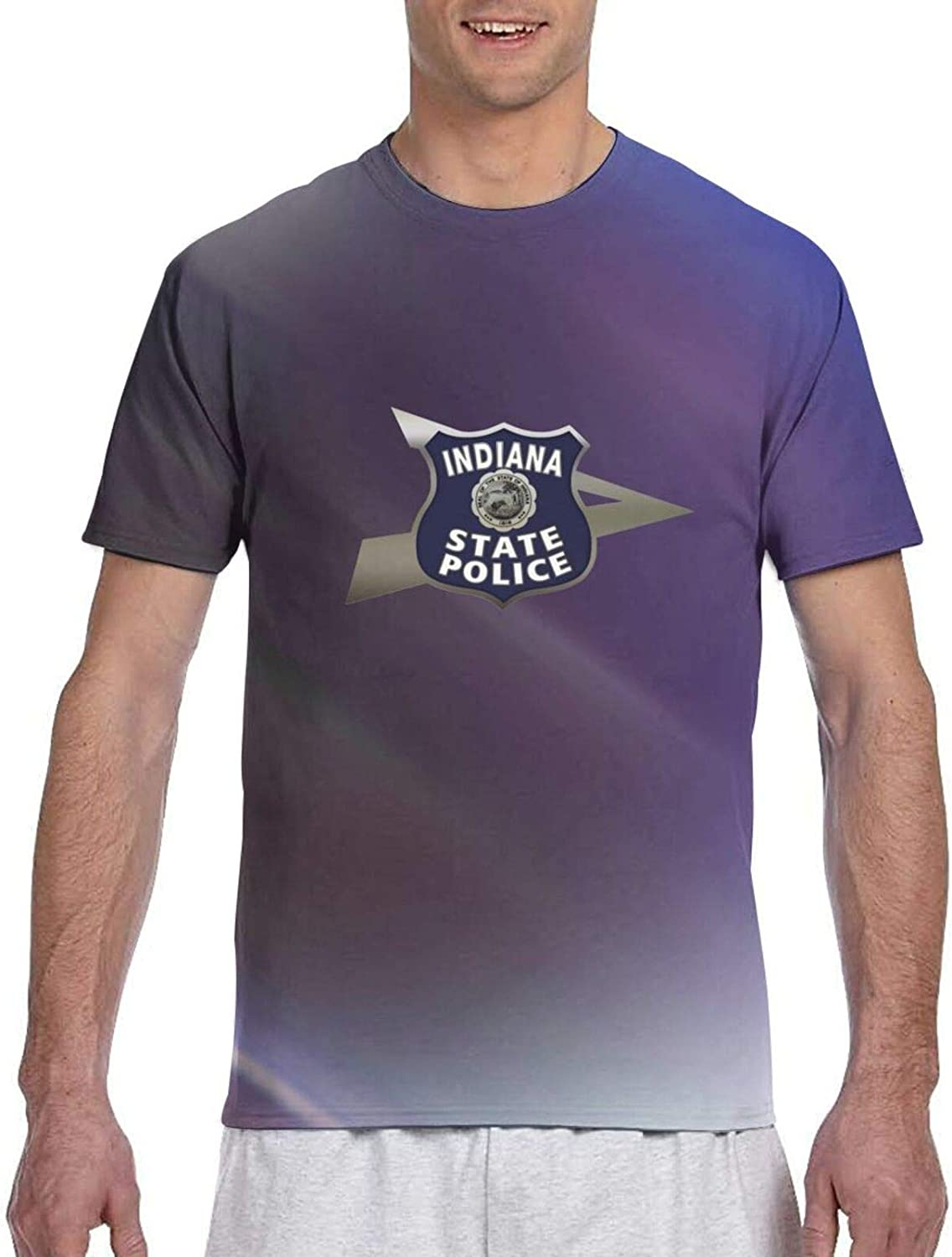 Eaggetabletold Peru Indiana State Police Travel Men's 3D Versatile T-Shirt Quick Drying Clothes