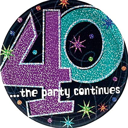 Amazon Amscan The Party Continuous 40th Birthday Party Round