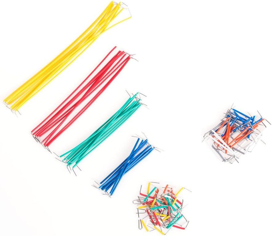 laomao ranuras Puentes Juego 140/piezas Puentes de alambre para Breadboard placa de pruebas Jumper Wires