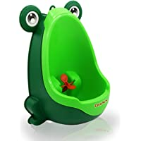 Zhoma Baby Urinal for Boys - Cute Frog Potty Training Urinal for Pee Trainer with Funny Aiming Target - Dark Green