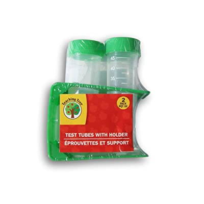 Teaching Tree Plastic Test Tubes with Holder (Green): Toys & Games