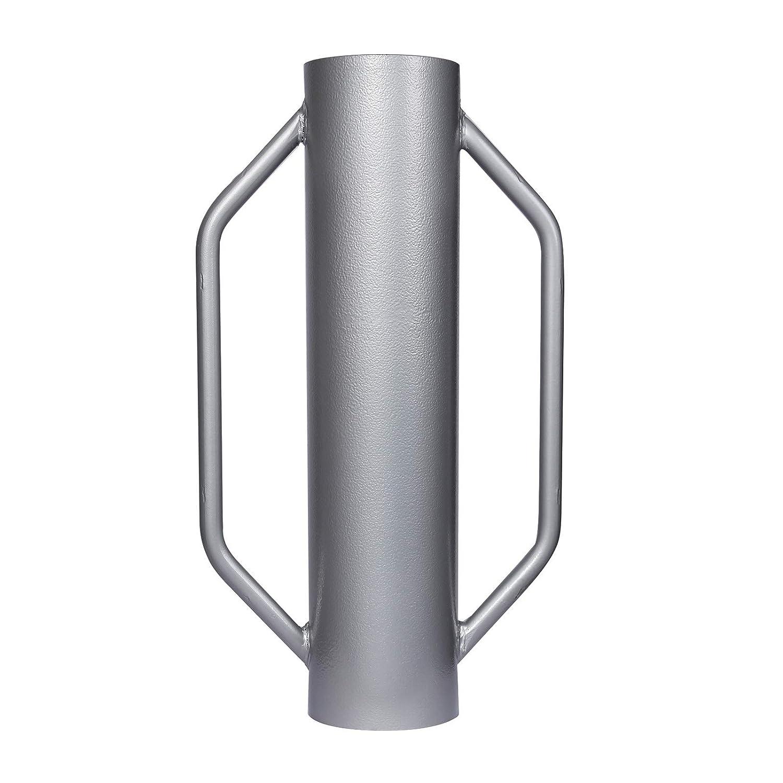 WilTec Hinca Postes Pis/ón Manual de Acero 13,5kg /Ø14cm Ayuda Clavar Postes Construcci/ón cercas y vallados