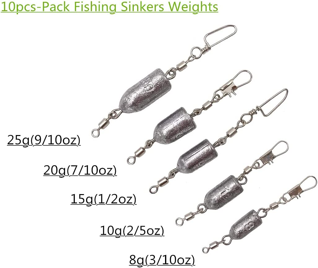 10x 5 oz SKM Sea Fishing Grip Leads Lead Weights Sinkers With Grip Wires Rollers