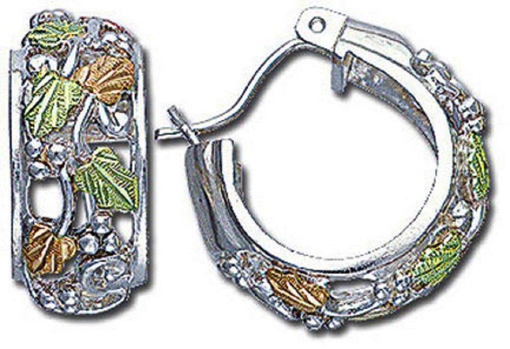 Landstroms Black Hills Silver Earrings, for Pierced Ears - 01614SS