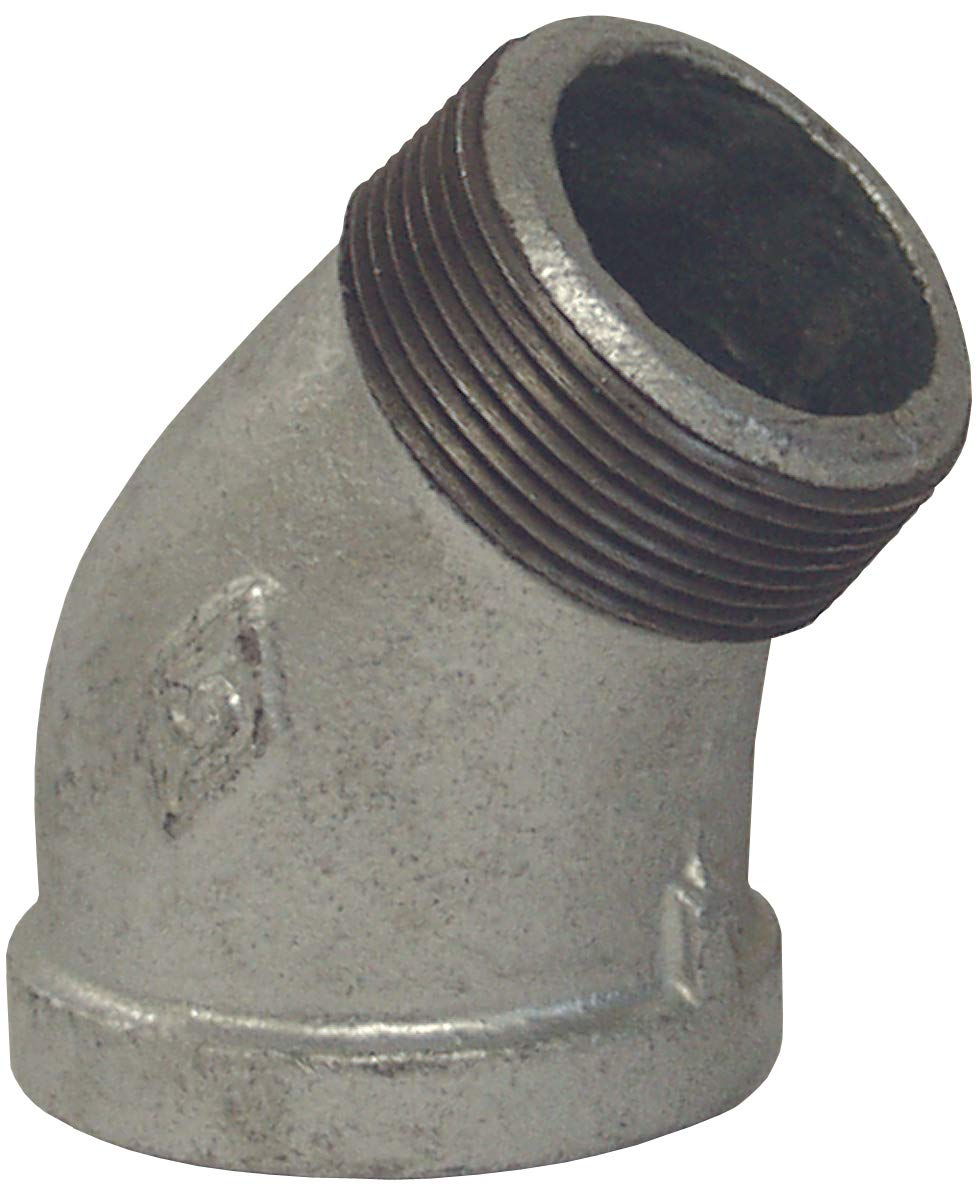 Dixon SE45200G 2 NPT Threaded 45/° Street Elbow 2 ID 150# Galvanized Iron 2 ID
