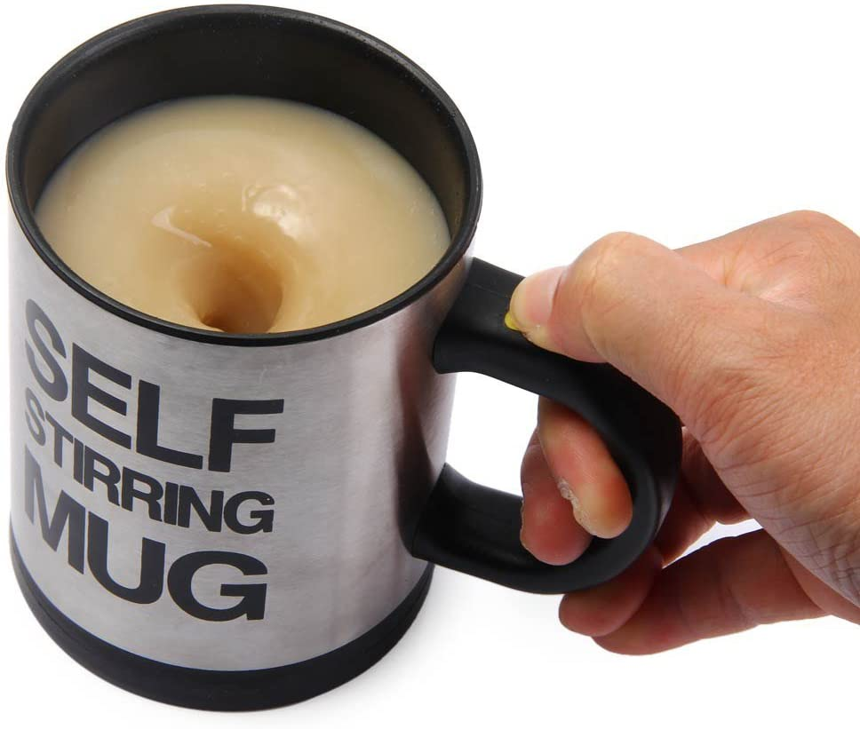 nicewave Self StirringコーヒーマグステンレススチールAutomatic Self Mixing Spinning Cup 8 oz