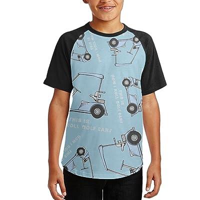 This Is How I Roll Golf Cart Youth Short Sleeves Raglan Print Baseball T Shirts Tees
