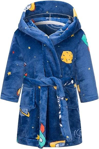 Comprar Taigood Albornoz niños niñas con Capucha Batas niño Suave Pijamas Ropa de Dormir niños Talla 6-7 años