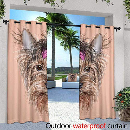 Outdoor- Free Standing Outdoor Privacy Curtain,Silver oval frame with Baroque pattern, watercolor painting on white background, isolated,W96