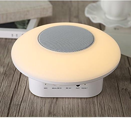 Veilleuse avec haut parleur Bluetooth, Fish ermo Enceinte sans fil Boîte Animal Bare couleur LED rechargeable lampe de nuit, USB Contact Contrôle