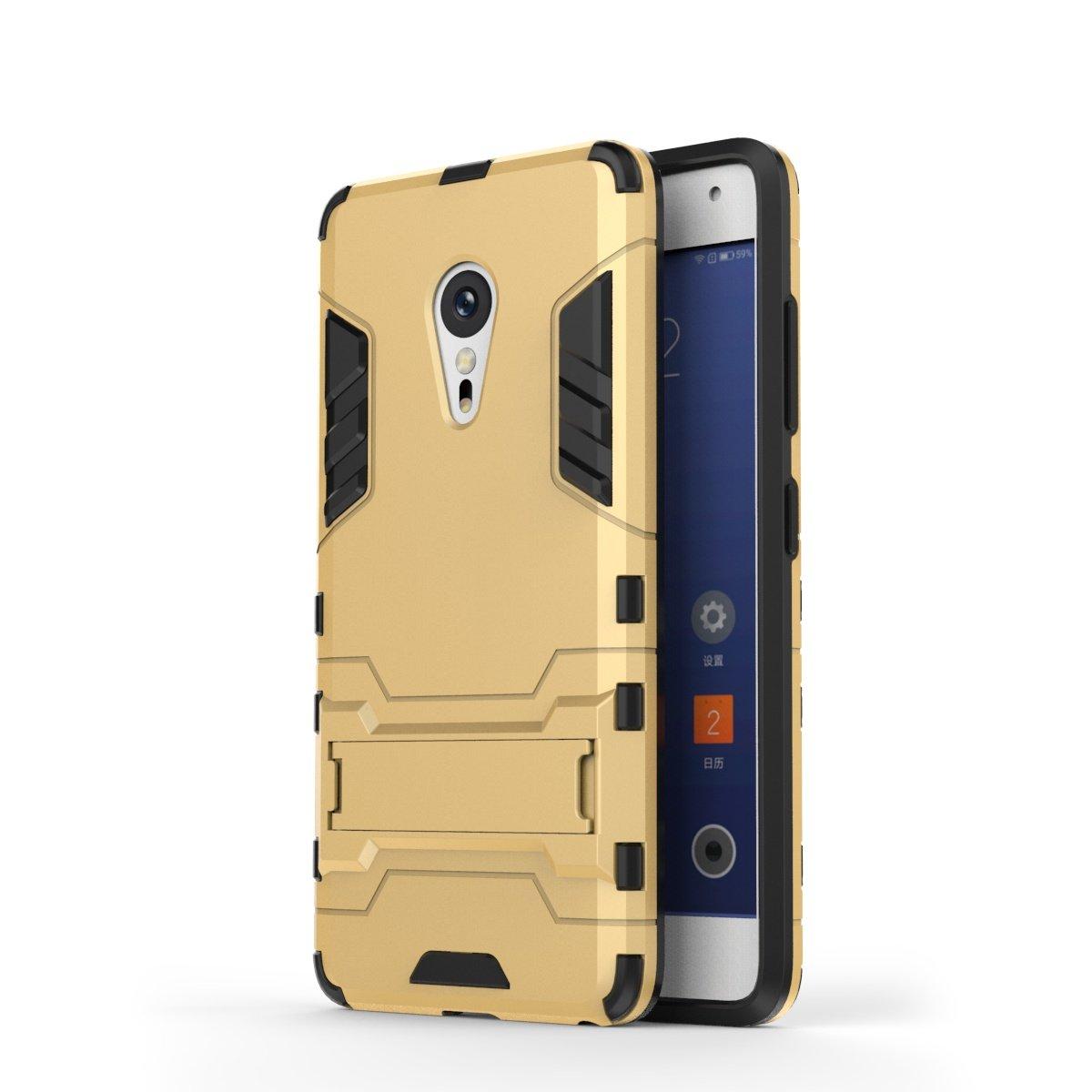 Funda Para Meizu MX6 , pinlu® Alta calidad bicapa mixto antideslizante Cover Phone Shell Con Soporte Función Anti-arañazo Caja de Teléfono Azul oscuro