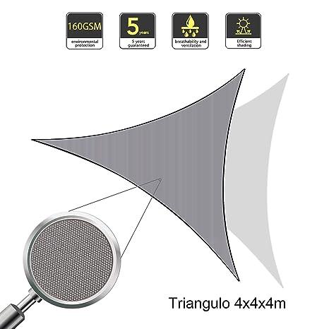 Sunnylaxx Vela de Sombra Triangular 4 x 4 x 4 Metros, toldo Resistente e Impermeable