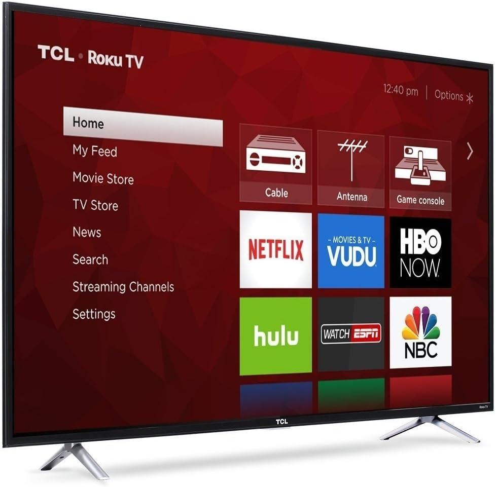 Amazon Com Tcl 55s403 4k 55 Led Tv Black Refurbished Electronics