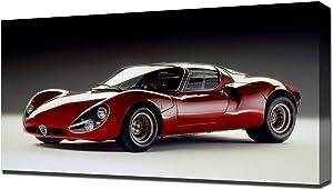 Lilarama USA 1967 Alfa Romeo Tipo 33 Stradale Prototipo V1 - Canvas Art Print - Wall Art - Canvas Wrap