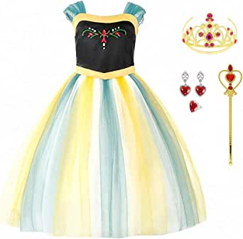 iTVTi Princess Halloween Costumes Dress UP for Little Grils with Rich Accessories