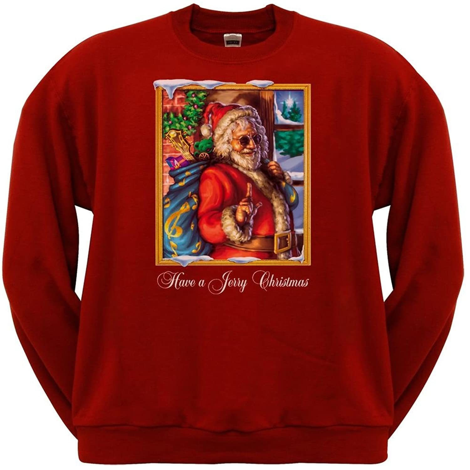 Amazon.com: Jerry Garcia - Mens Christmas Crew Neck Sweatshirt ...