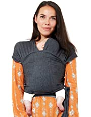 The Baby Brand | Baby Sling Carrier Baby Wrap | Tested to EU Safety Standards | Lightweight Breathable And Soft Cotton Spandex | Newborns Infants & Toddlers | Baby Shower Ideal Gift (Grey)