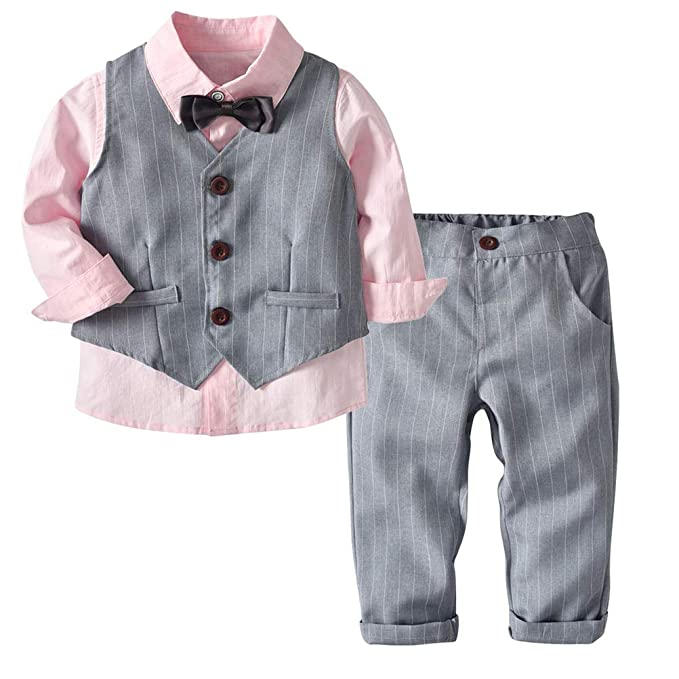 ARAUS Traje Niños Camisa + Chaleco + Corbata + Pantalones Suit ...