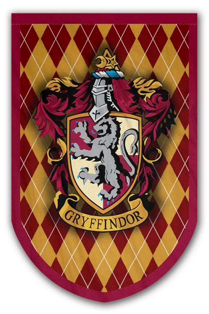 Harry Potter Gryffindor Banner - Gryffindor Flag - Printed on Both Sides - Perfect Conditions for Outside - Amazing Gift for All PotterHeads - Unique HP Collectible Accessories (Gryffindor)