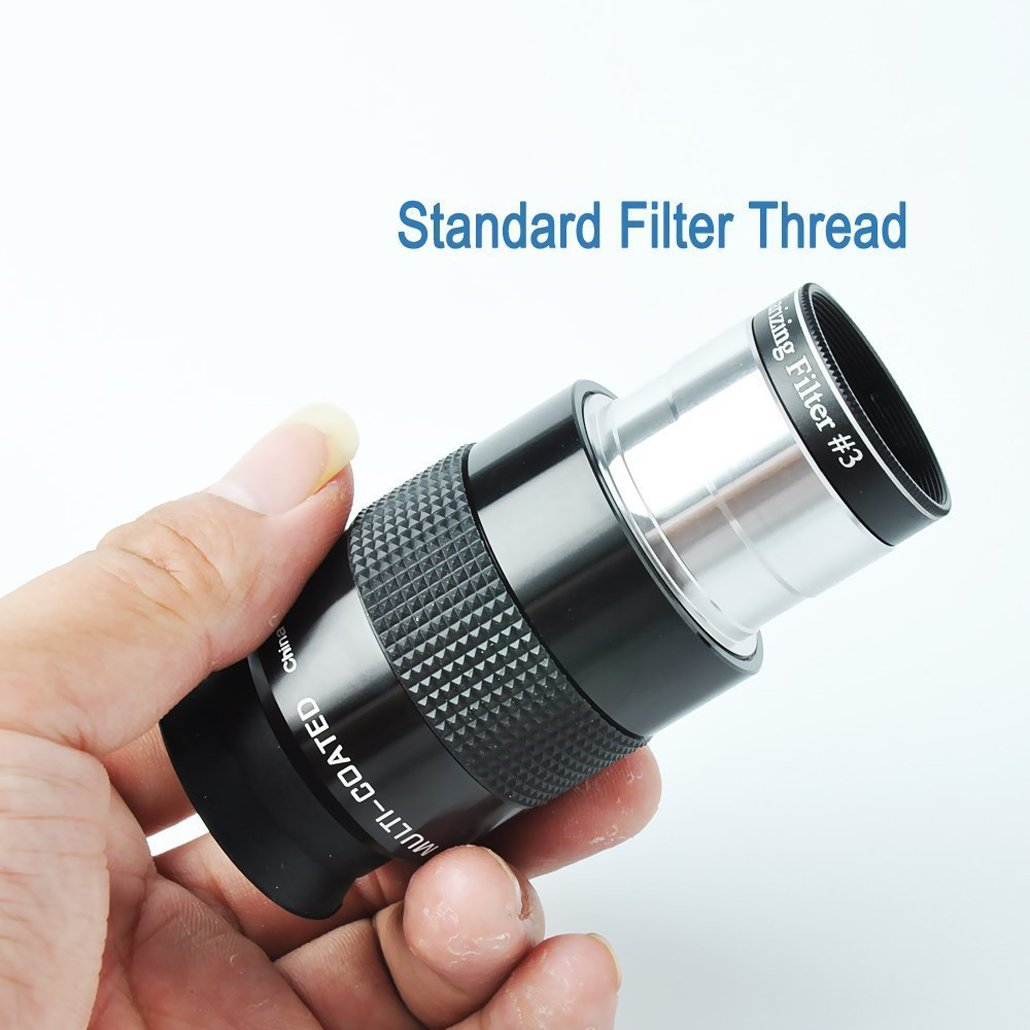 telescopio ocular/ /52/grado afov- con rosca para filtros de astronom/ía est/ándar de 1,25/pulgadas 31.7/mm gosky Super Plossl Ocular 1,25/