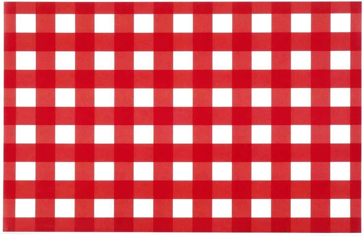 Paper Placemats Table Mats Table Decor Pk 50 Red Checkered Gingham