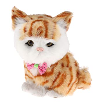 perfeclan Figura de Peluche de Gato de Simualción Muñeco de ...