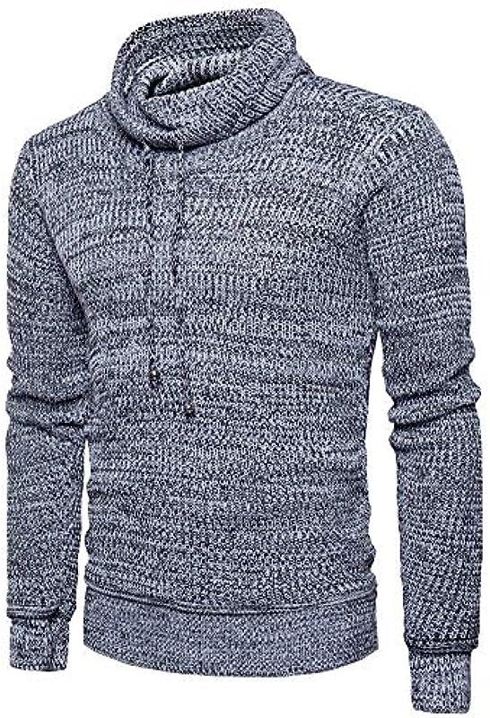 Męski sweter z długim rękawem Slim Fit Mode elegancki drobny sweter normalny lakier Modernas luźny długi rękaw sweter dziergany jesień zima sweter dziergany: Odzież