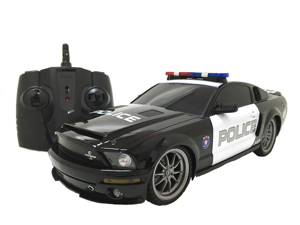 Desconocido Producto oficial de Ford Mustang Shelby GT500 Super Snake eléctrica función completa de 1: 18 RTR RC coche de policía (colores puede variar) por XQRC18 – 4 paa-1184