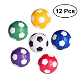 TOYMYTOY Mini Table Soccer Foosballs, Tabletop Game Ball of 12Pack Multi Color Ball Accessories