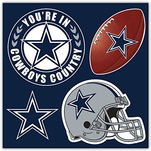 Dallas Cowboys Magnets (NFL Dallas Cowboys Unisex NFL 4Piece Magnet Set, Navy, One Size)