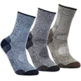 YUEDGE 3 Pairs Men's Antiskid Wicking Multi Performance Cushion Crew Socks Year Round