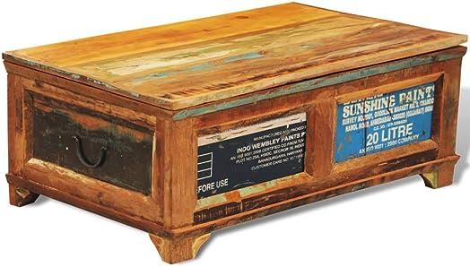 Best living room table: INLIFE 2-in-1 Coffee Table,Vintage Handmade Reclaimed Wood Storage Cabinet Box,Tea End Table