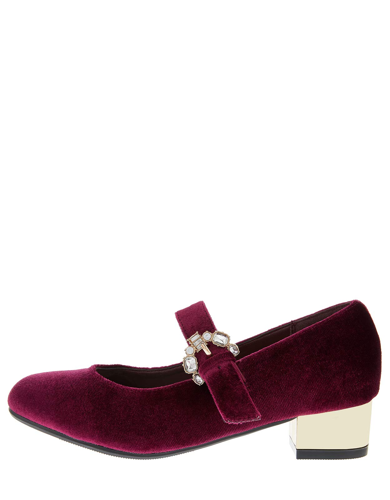 Accessorize Briony Buckle Velvet Charleston Shoes - Girls - US 12 Shoe