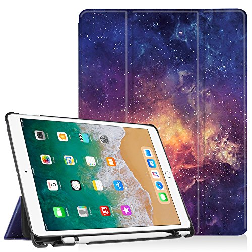 Fintie iPad Pro 10.5 Case with Built-in Apple Pencil Holder - [SlimShell] Ultra Lightweight Standing Protective Cover with Auto Wake/Sleep for Apple iPad Pro 10.5 Inch 2017 Tablet, Galaxy