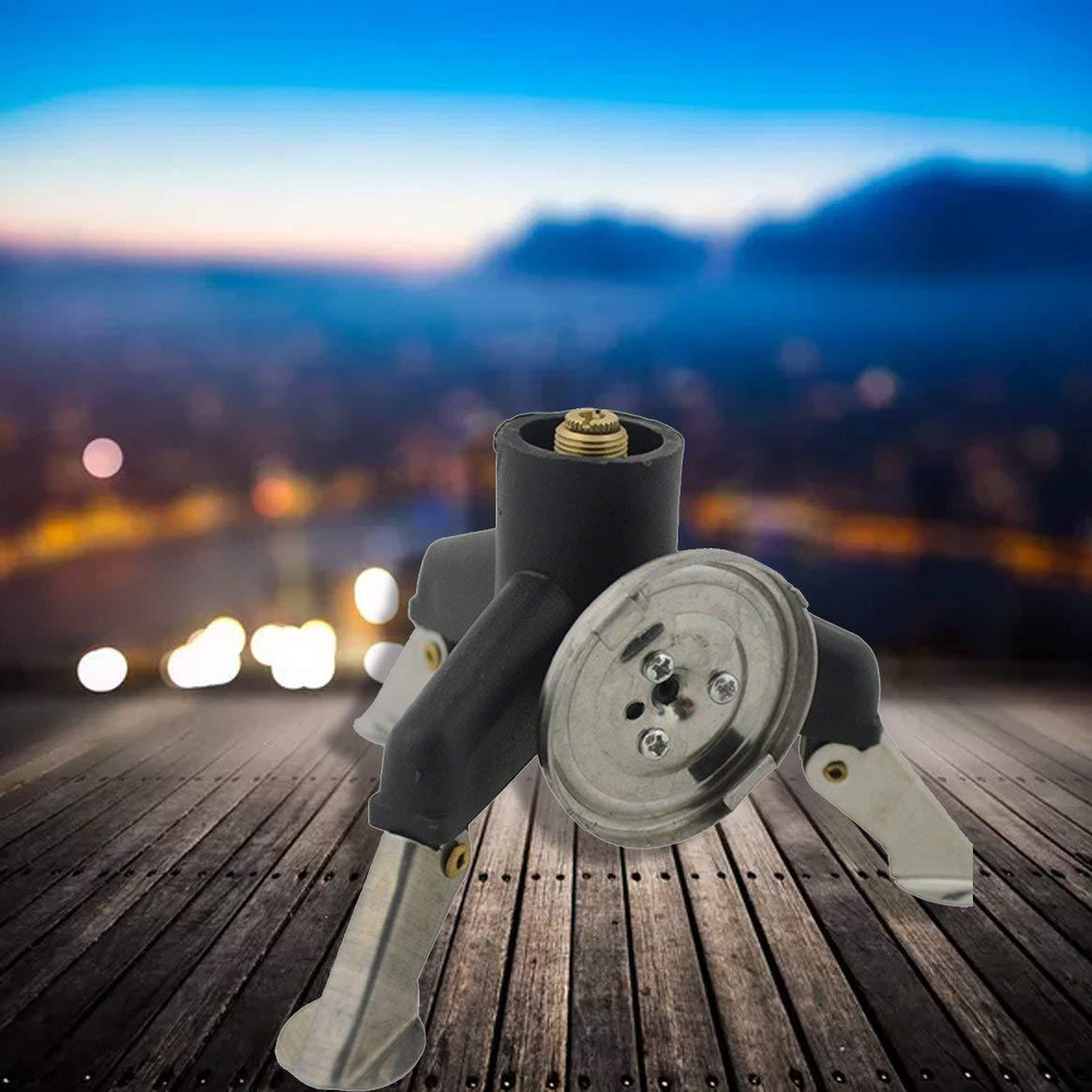 Delicacydex R/échaud /à r/éservoir Portable Convertisseur de gaz Adaptateur de Camping en Plein air Adaptateur de br/ûleur /à gaz Adaptateur pour cuisini/ère /à gaz Accessoires Argent et Noir