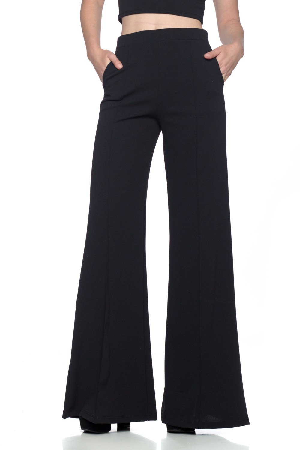 Women's J2 Love Flowing Palazzo Pants, Small, Black