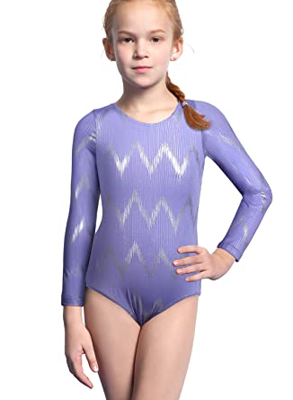 0c1dfc59b15b Amazon.com  Leotards for Girls Gymnastics Toddler Ballet Dance Shiny ...