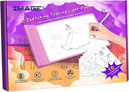 Crayola Light-Up Tracing Pad Coloring Board for Kids Toy LED Tablet Blue or Pink