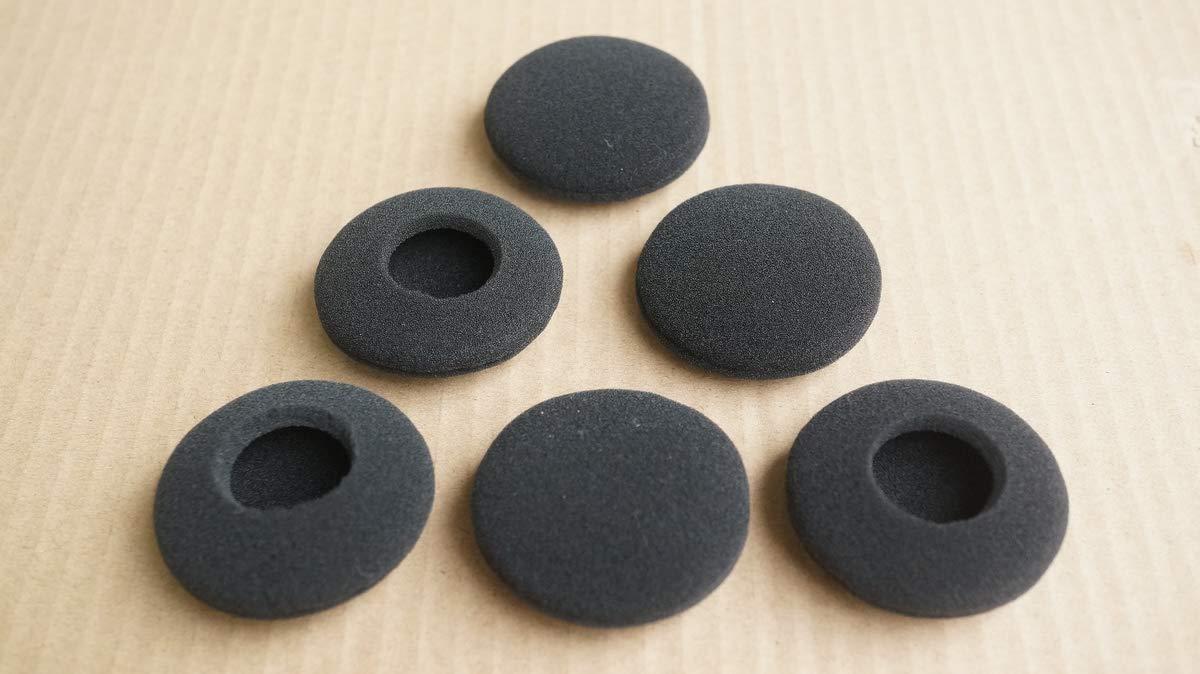 3 pares de almohadillas de espuma de recambio para auriculares Plantronics Audio 628 USB//Audio 626 DSP auriculares tipo casco con micr/ófono