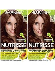 Garnier Hair Color Nutrisse Nourishing Creme, 434 Deep...