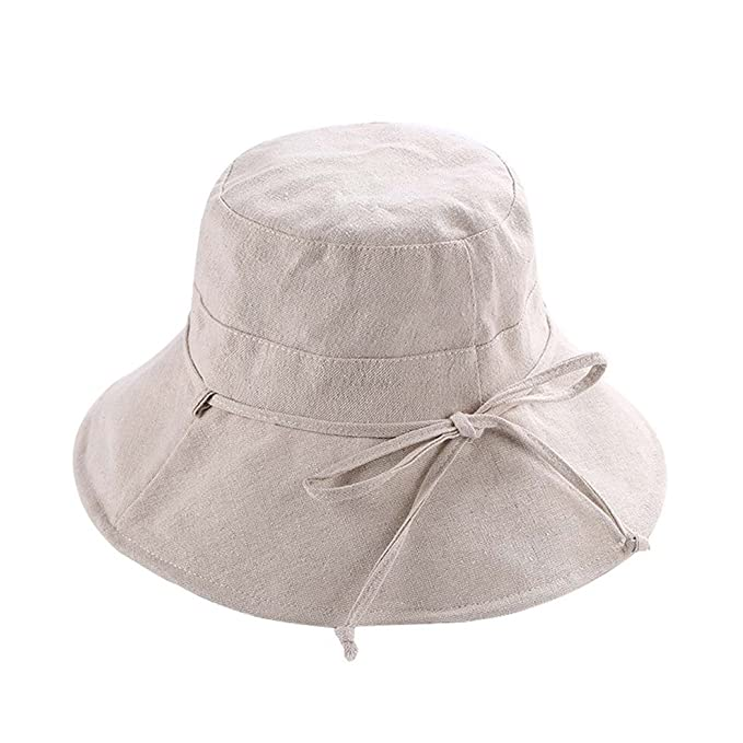 a6d18208b76 Womens Girl Reversible Foldable Bowknot Summer Fisherman Bucket Cap ...
