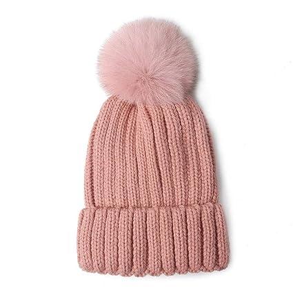 Cappello in Peluche Femminile Autunno e Inverno Acrilico Caldo Berretto  Antivento a Maglia Tinta Unita Cuffia 28a3247290ec