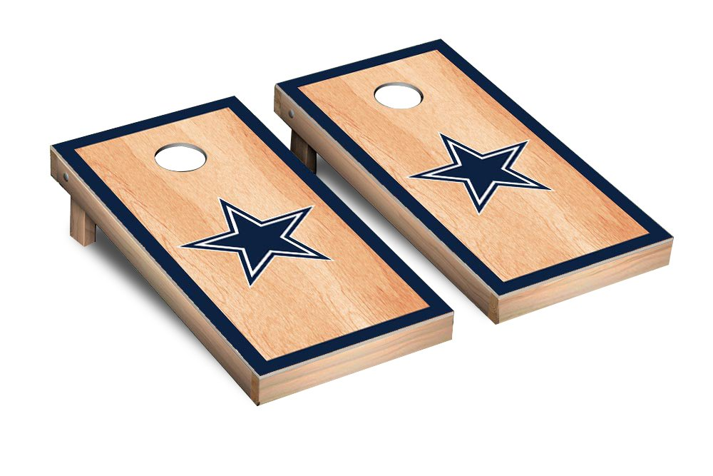 NFL Dallas Cowboys Hardcourt Border Version Football Corn hole Game Set, One Size