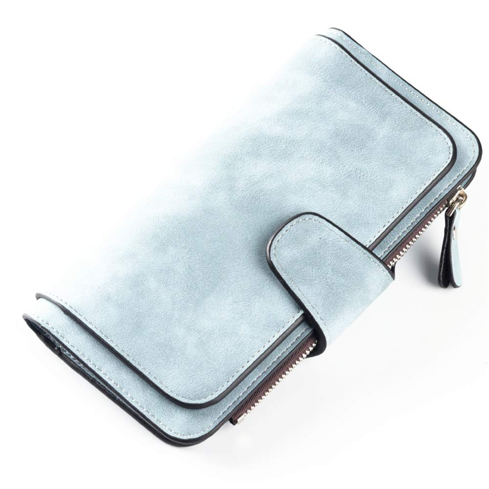 DASHJGGL Portefeuille Femme Fashion Brand Wallet Women Matte PU Leather Purse Long Female Wallet Ladies Clutch 6 Colors